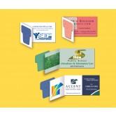 Carte d'affaires avec papier à semences
