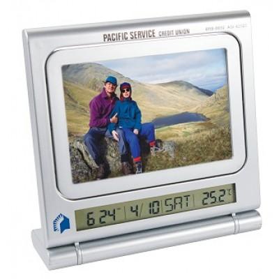 Horloge, thermomètre cadre photo