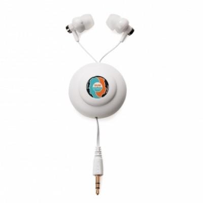 Écouteurs bouton avec cordon retractable