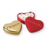 Boîte en coeur avec menthes